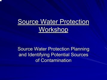 Source Water Protection Workshop
