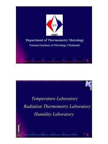 Temperature Laboratory Radiation Thermometry Laboratory ...