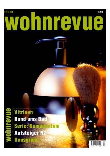 WOHNREVUE (D) - ausgabe 09/1999