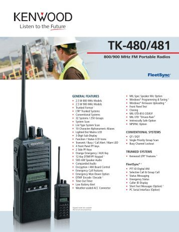 Kenwood Tk 272g manual