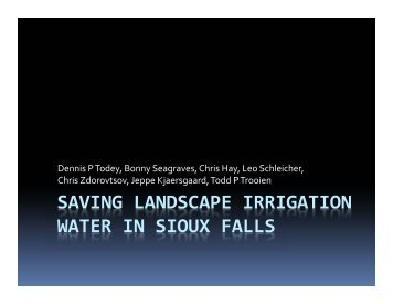 saving landscape irrigation water in sioux falls - National Water ...