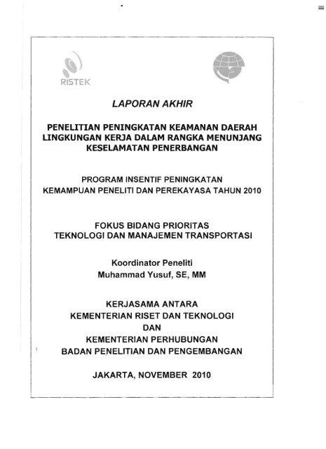 Laporan Akhir Km Ristek Kementerian Riset Dan Teknologi