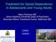 Treatment For Opioid Dependence In Adolescents And Young Adults