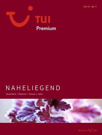 TUI - Premium: Naheliegend - tui.com - Onlinekatalog