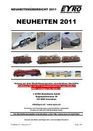 NEUHEITEN 2011 - EYRO Modellbahn GmbH