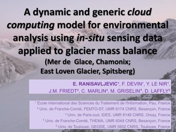 A dynamic and generic cloud computing model for environmental ...