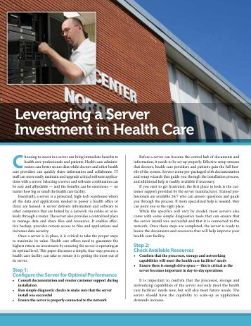 Leveraging a Server Investment in Health Care - Navigator