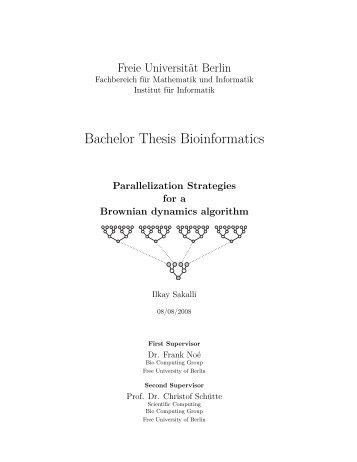 Bachelor Thesis Bioinformatics - FU Berlin, FB MI - Freie Universität ...