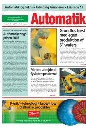AUTOMATIK 05-2003 - Teknik og Viden