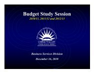 Budget Study Session - Chino Valley Unified School District