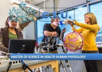 Máster en Ciencias de la Salud en Fisiología Humana