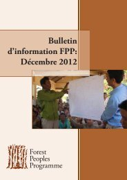 Bulletin d'information FPP: Décembre 2012 - Forest Peoples ...