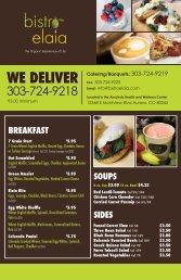 Delivery menu - Anschutz Health and Wellness Center