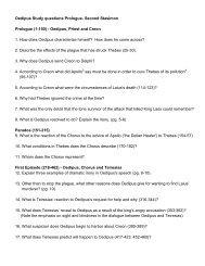 Oedipus Study questions Prologue- Second Stasimon Prologue (1 ...