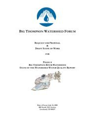 request for proposal - Big Thompson Watershed Forum