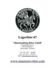 Lagerliste 67 www.muenzen-ritter.com - Münzhandlung Ritter GmbH