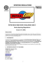 SPORTING REGULATIONS ROTAX MOJO MAX EURO ... - EIKO