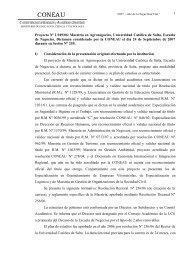 CONEAU - Universidad Católica de Salta