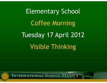 Understanding & Visible Thinking - Welcome to Our World of ...
