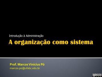 Aula 3 – Organização como sistema