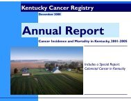 Annual Report_11.26.08.pub (Read-Only) - Kentucky Cancer Registry