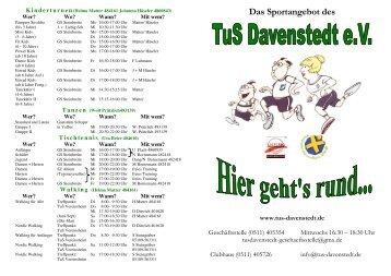 Das Sportangebot des - TuS Davenstedt