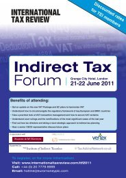 21-22 June 2011 - International Tax Review