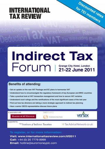 21-22 June 2011 - International Tax Review
