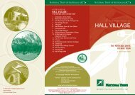 Hall Village - The Heritage Drive or Bike Tour - National Trust of ...