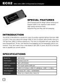 Ultra slim USB 3.0 ExpressCard Adapter - SilverStone - Page 2