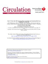 First Aid 2010 American Heart Association and American Red Cross ...