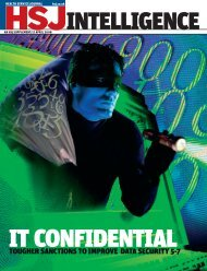HSJ intelligence supplement: IT confidential - Health Service Journal