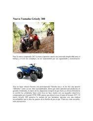 Nuevo Yamaha Grizzly 300 - Yamaha Motor de México