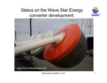 Wave Star Energy presentation in Bremerhaven 2006-10-23.pdf
