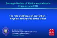 Physical activity and active travel