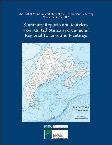 Appendix 1 - Gulf of Maine Council on the Marine Environment