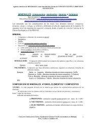 Minerales, Compuestos, Elementos átmos e isótopos (en pdf)