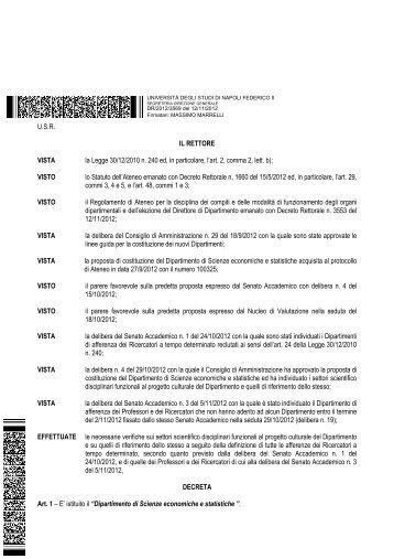 Scienze economiche e statistiche - Università degli Studi di Napoli ...
