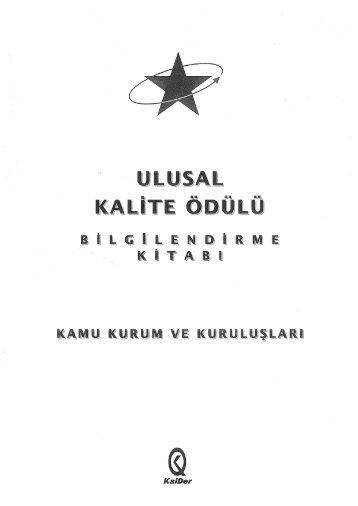 Ulusal Kalite Ödülü Bilgilendirme Kitabı