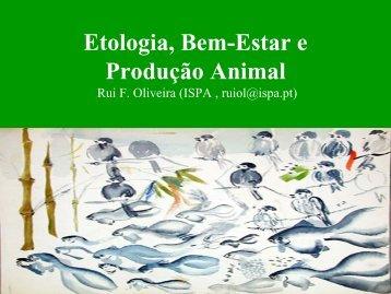 Etologia, Bem-Estar e Produção Animal