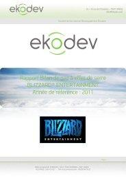 Bilan de gaz à effet de serre Blizzard Entertainment