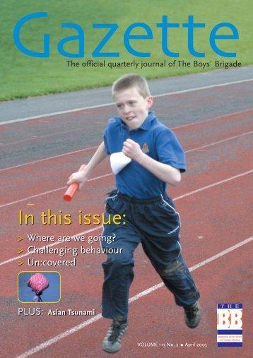 April 2005 - The Boys' Brigade
