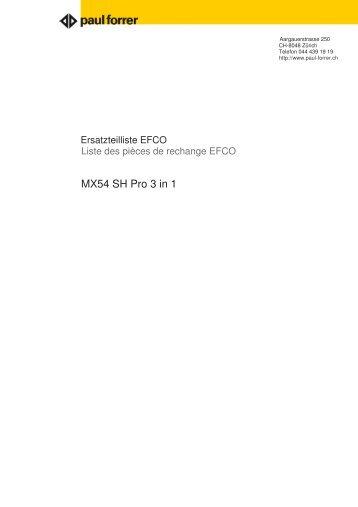 MX54 SH Pro 3 in 1 - Paul Forrer AG