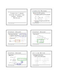 Iterative Linear System Solvers for Large, Sparse Matrices Iterative ...