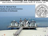 Innovation, Technology and Employment: Energy - The Eighth ...