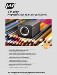 Progressive Scan RGB Color CCD Camera CV-M77