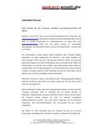 PRESSEMITTEILUNG - Gokart-Profi