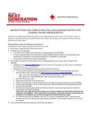 Instructions for Completing the Lifeguarding ... - Instructor's Corner