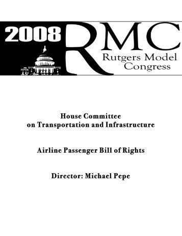 House Committee on Transportation and Infrastructure Airline ... - IDIA