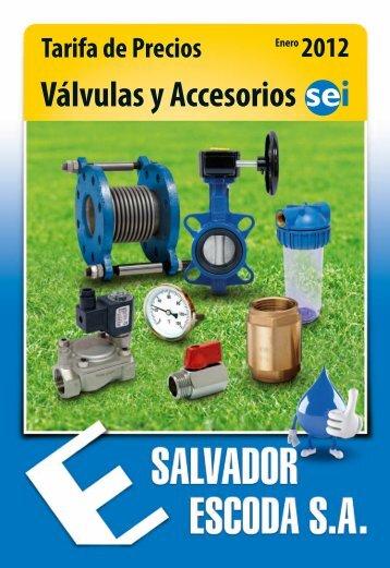 tarifa SEI 2012 - Salvador Escoda SA